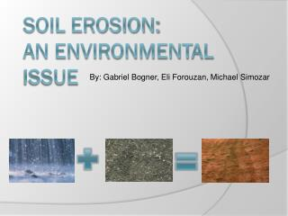 Soil Erosion: An Environmental Issue
