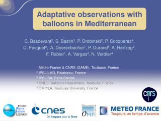 Adaptative observations with balloons in Mediterranean