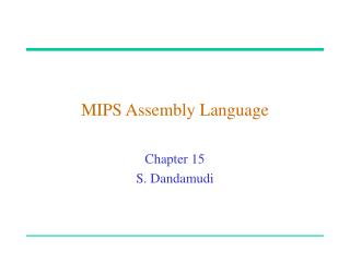 MIPS Assembly Language