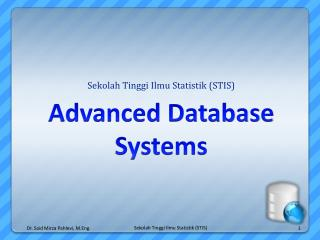 Advanced Database Systems