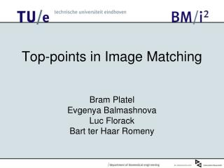 Top-points in Image Matching