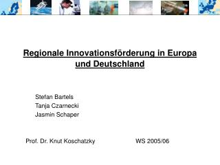 Regionale Innovationsförderung in Europa und Deutschland