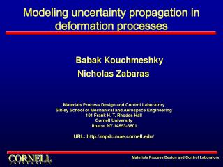 Modeling uncertainty propagation in deformation processes