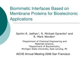 Biomimetic Interfaces Based on Membrane Proteins for Bioelectronic Applications