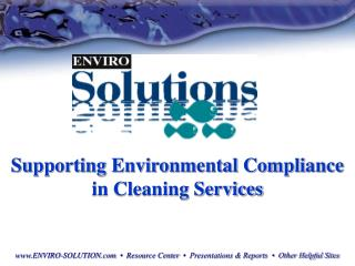 Supporting Environmental Compliance in Cleaning Services