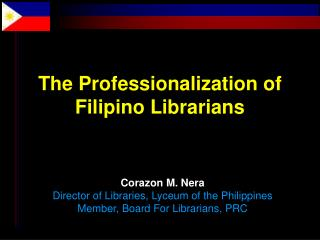 The Professionalization of Filipino Librarians