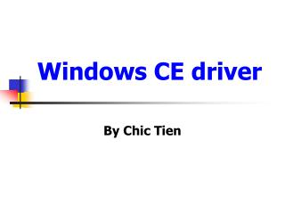 Windows CE driver