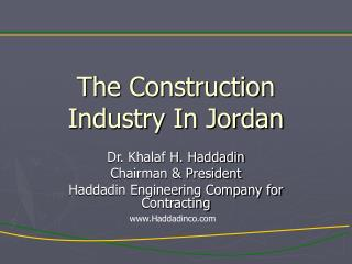 The Construction Industry In Jordan