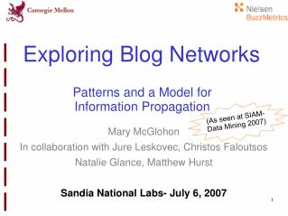Exploring Blog Networks