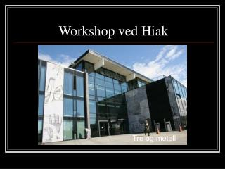 Workshop ved Hiak