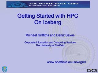 Getting Started with HPC On Iceberg