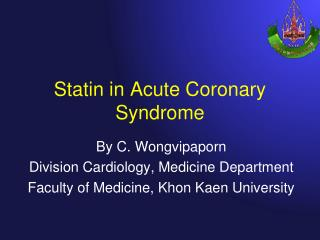 Statin in Acute Coronary Syndrome