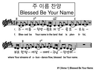 주 이름 찬양 Blessed Be Your Name
