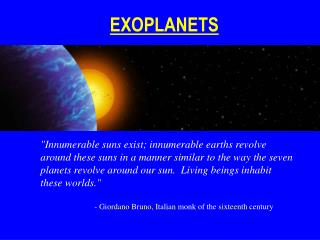 EXOPLANETS