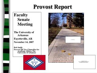 Provost Report