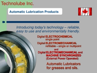 Lubrication Systems  Lubricants