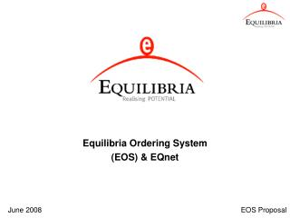 Equilibria Ordering System (EOS) & EQnet