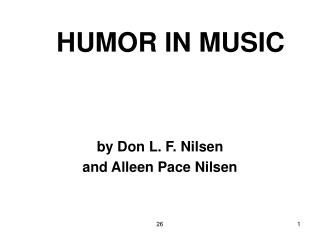 HUMOR IN MUSIC