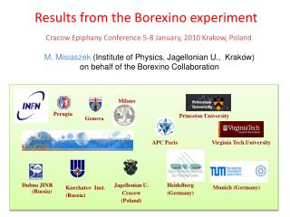 Results from the Borexino experiment