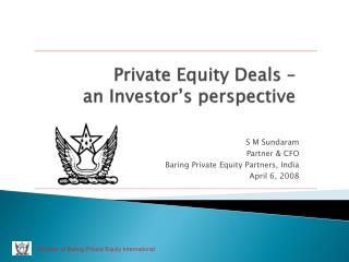 Private Equity Deals – an Investor's perspective