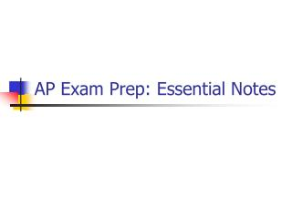 AP Exam Prep: Essential Notes