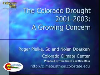 The Colorado Drought 2001-2003:  A Growing Concern
