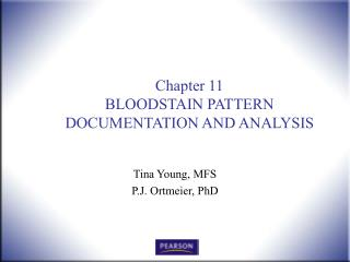 Chapter 11 BLOODSTAIN PATTERN DOCUMENTATION AND ANALYSIS