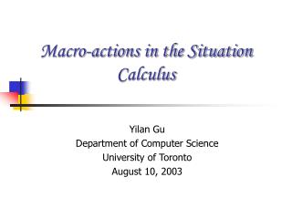 Macro-actions in the Situation Calculus
