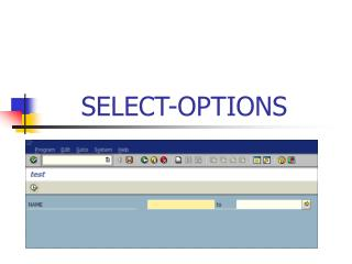 SELECT-OPTIONS