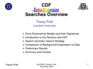 CDF	 Searches Overview