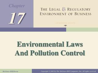 Environmental Laws And Pollution Control