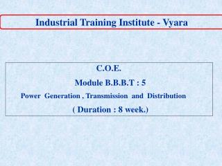 Industrial Training Institute - Vyara