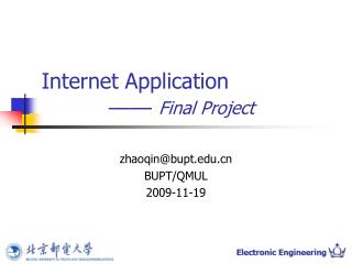 Internet Application  —— Final Project