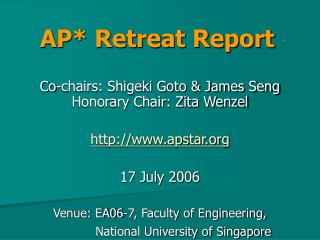 AP* Retreat Report