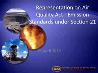Representation on Air Quality Act - Emission Standards under Section 21