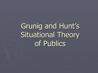 Grunig and Hunt's Situational Theory  of Publics