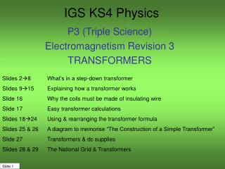 IGS KS4 Physics