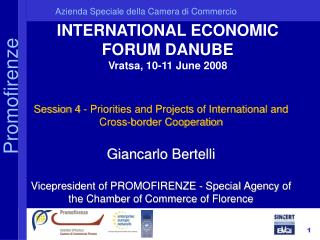 INTERNATIONAL ECONOMIC FORUM DANUBE Vratsa, 10-11 June 2008