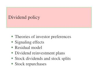 Dividend policy