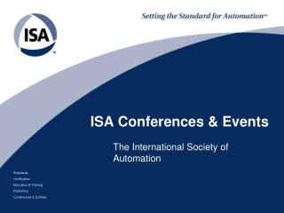 ISA Conferences & Events