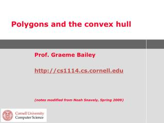 Polygons and the convex hull