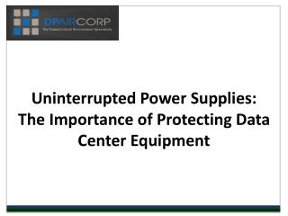 Uninterruped Power Supplies - DP Air