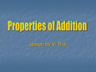 Lesson by Vi Thai