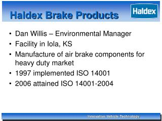 Haldex Brake Products
