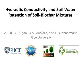 Hydraulic Conductivity and Soil Water Retention of Soil-Biochar Mixtures