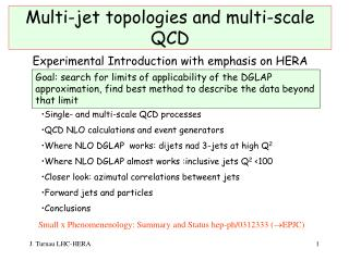 Multi-jet topologies and multi-scale QCD