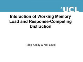 Interaction of Working Memory Load and Response-Competing Distraction