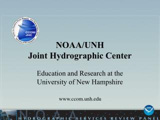 NOAA/UNH  Joint Hydrographic Center