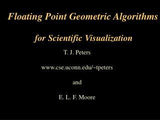 Floating Point Geometric Algorithms