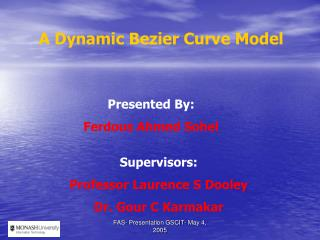 A Dynamic Bezier Curve Model